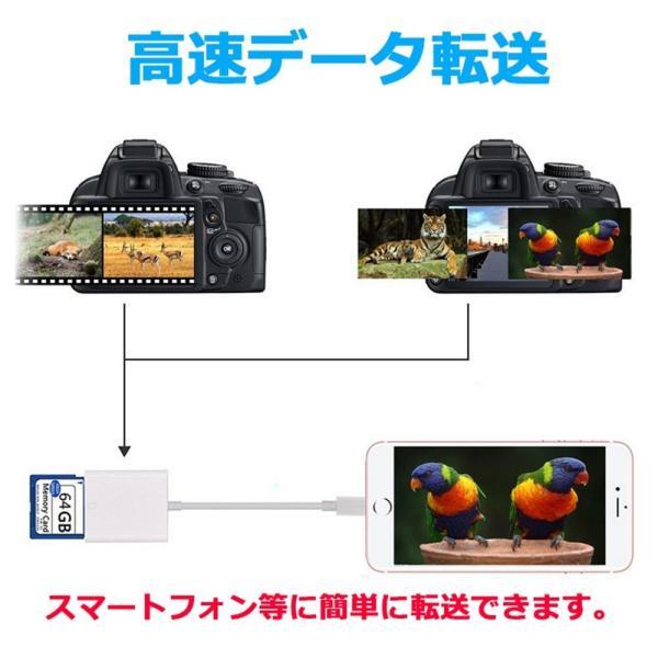 iPhone iPad 専用 Lightning SDカードカメラリーダー IOS専用 iPad iPhone X/8 plus/8/7 plus/7対応 microメモリSDカードリーダー(アップグレード版) teruyukimall 04