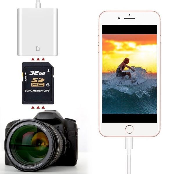 iPhone iPad 専用 Lightning SDカードカメラリーダー IOS専用 iPad iPhone X/8 plus/8/7 plus/7対応 microメモリSDカードリーダー(アップグレード版) teruyukimall 05