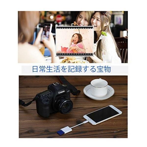 iPhone iPad 専用 Lightning SDカードカメラリーダー IOS専用 iPad iPhone X/8 plus/8/7 plus/7対応 microメモリSDカードリーダー(アップグレード版) teruyukimall 06