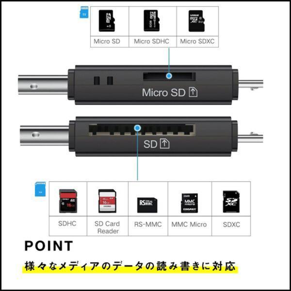 SDカードリーダー USB メモリーカードリーダー MicroSD マルチカードリーダー SDカード android スマホ タブレット teruyukimall 03