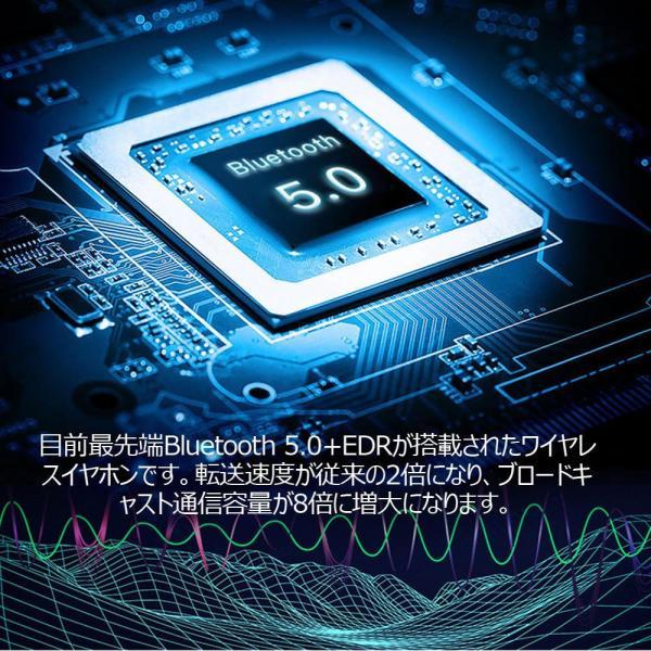 ワイヤレスイヤホン ブルートゥースイヤホン Bluetooth 5.0 左右分離型 自動ペアリング IPX8完全防水 両耳通話 スマホも充電 4000mAh 大容量|teruyukimall|09