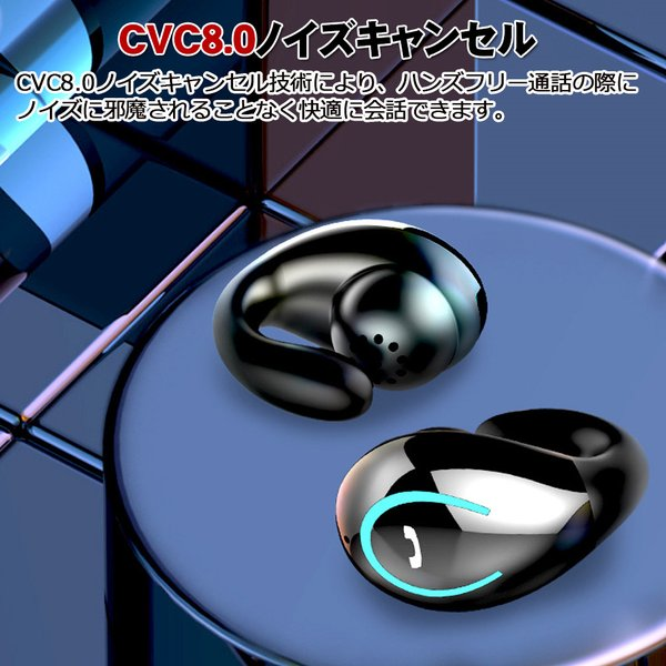 ワイヤレスイヤホン bluetooth5.0 イヤホン 骨伝導 高級 片耳用 iPhone android アンドロイド スマホ 高音質 音楽 耳かけ型|teruyukimall|10