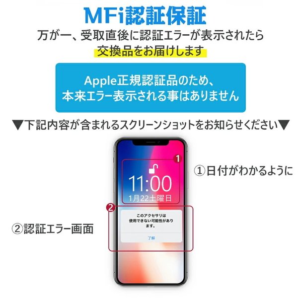 Apple純正ケーブル iPhone 充電ケーブル 0.5m 1m 1.5m 2m 3m アップル公式 MFI認証済 Foxconn製 ライトニング ケーブル teruyukimall 06