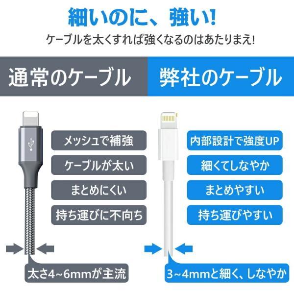 Apple純正ケーブル iPhone 充電ケーブル 0.5m 1m 1.5m 2m 3m アップル公式 MFI認証済 Foxconn製 ライトニング ケーブル teruyukimall 08