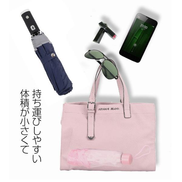 日傘 LED搭載 折りたたみ傘  折り畳み傘 自動開閉 高強度グラスファイバー LED搭載 雨具 撥水 丈夫 対強風 おしゃれ 折畳傘|teruyukimall|09
