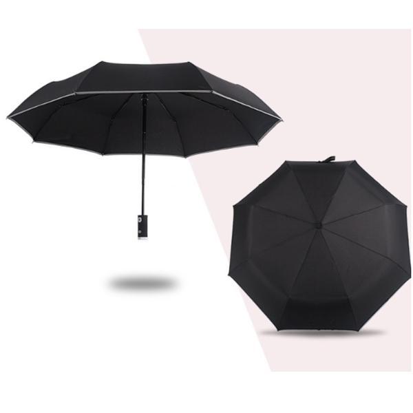 日傘 LED搭載 折りたたみ傘  折り畳み傘 自動開閉 高強度グラスファイバー LED搭載 雨具 撥水 丈夫 対強風 おしゃれ 折畳傘|teruyukimall|10