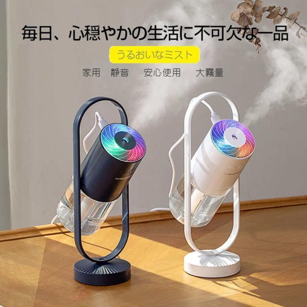 加湿器 投影加湿器 超音波式 持ち運び便利 ミニ加湿器 室内 車載用 USB給電 空気浄化機 七色LEDライト teruyukimall 02