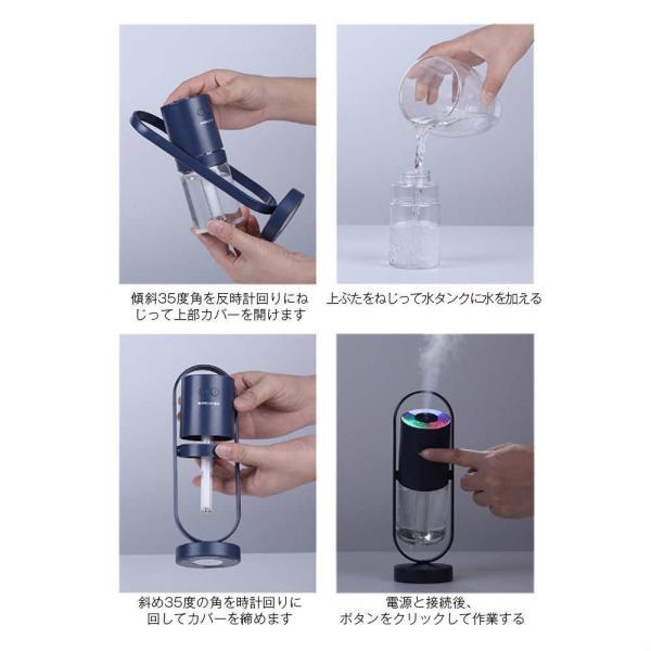 加湿器 投影加湿器 超音波式 持ち運び便利 ミニ加湿器 室内 車載用 USB給電 空気浄化機 七色LEDライト teruyukimall 11