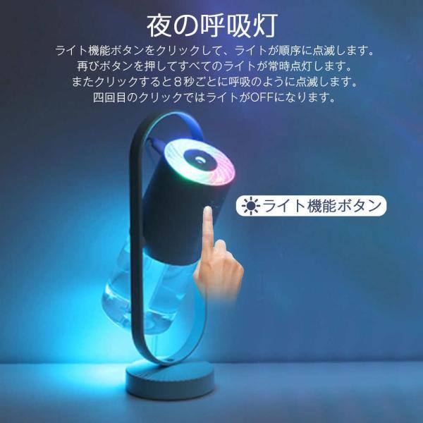 加湿器 投影加湿器 超音波式 持ち運び便利 ミニ加湿器 室内 車載用 USB給電 空気浄化機 七色LEDライト teruyukimall 05