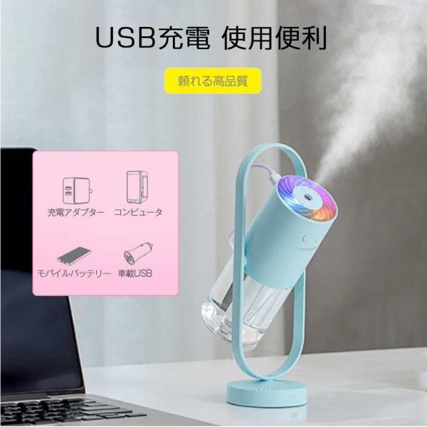 加湿器 投影加湿器 超音波式 持ち運び便利 ミニ加湿器 室内 車載用 USB給電 空気浄化機 七色LEDライト teruyukimall 10