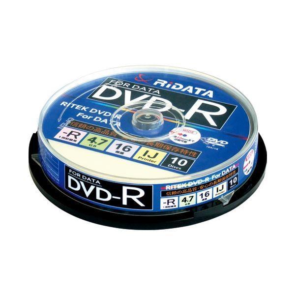(まとめ)Ri-JAPAN データ用DVD-R 10枚 D-R16X47G.PW10SP B〔×10セット〕