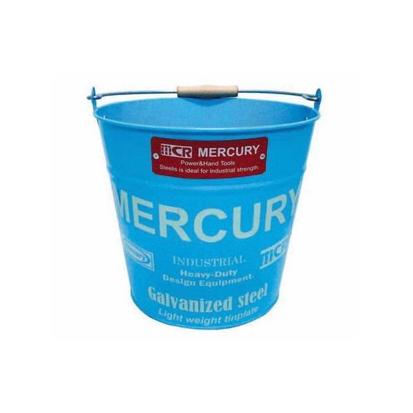 バケツ マーキュリー ブリキ MERCURY BUCKET (ブルー) 掃除用具 おしゃれ インテリア アメリカ雑貨 アメリカン雑貨|texas4619