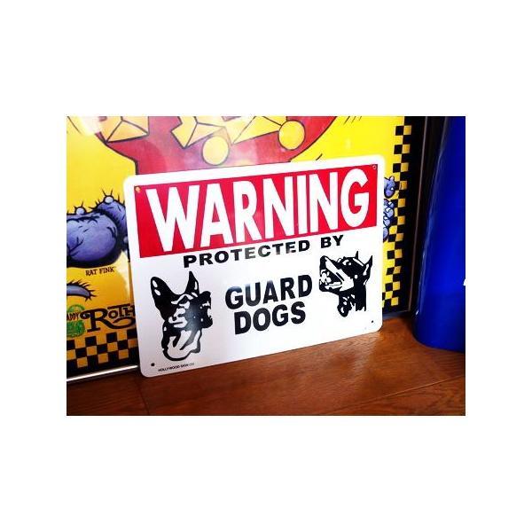 プラスチックサインボード(WARNING GUARD DOGS 番犬注意) 看板 インテリア アメリカ雑貨 アメリカン雑貨|texas4619