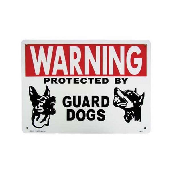 プラスチックサインボード(WARNING GUARD DOGS 番犬注意) 看板 インテリア アメリカ雑貨 アメリカン雑貨|texas4619|02