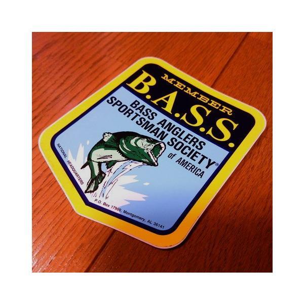 B.A.S.S. MEMBERステッカー(OLD LOGO) バスフィッシング 釣り アメリカ雑貨 アメリカン雑貨 texas4619
