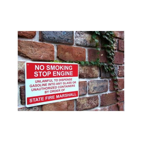 プラスチックサインボード(NO SMOKING STOP ENGINE) 看板 インテリア アメリカ雑貨 アメリカン雑貨|texas4619