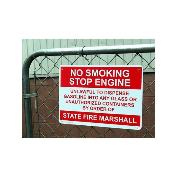 プラスチックサインボード(NO SMOKING STOP ENGINE) 看板 インテリア アメリカ雑貨 アメリカン雑貨|texas4619|02