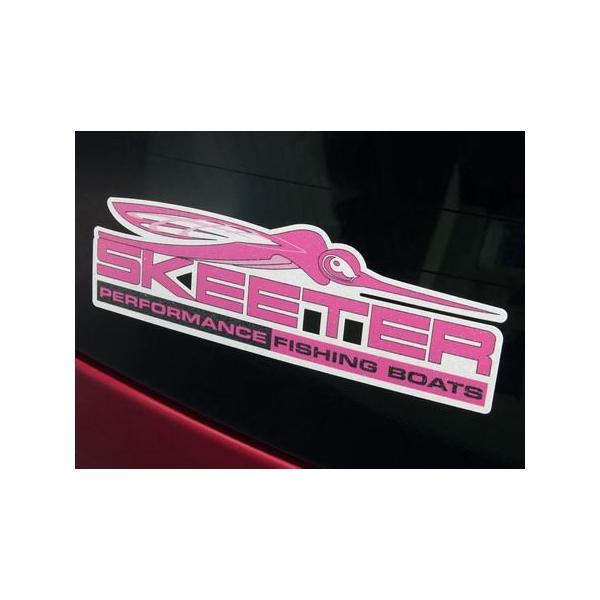 SKEETER BOATS ウィンドウデカール ピンク バスフィッシング 釣り アメリカ雑貨 アメリカン雑貨 texas4619