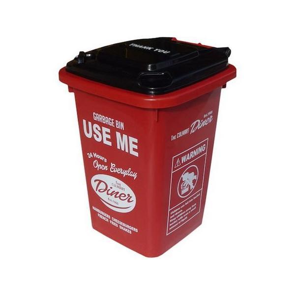 32Lプラスチックダストビン(レッド) ごみ箱 インテリア アメリカ雑貨 アメリカン雑貨|texas4619