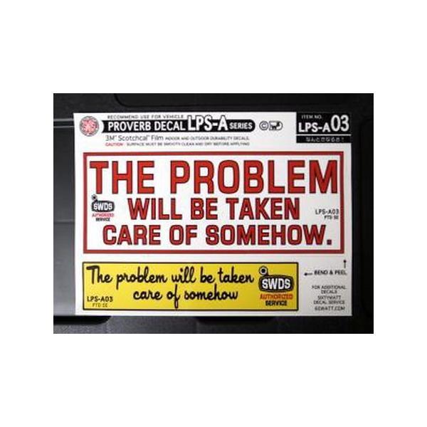コトワザ2Pシートステッカー(なんとかなるさ) アメリカ雑貨 アメリカン雑貨|texas4619