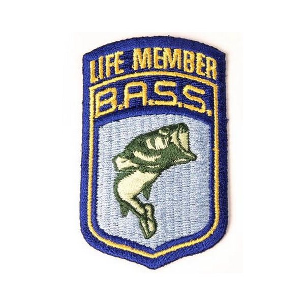 B.A.S.S. ライフメンバーワッペン バスフィッシング 釣り アメリカ雑貨 アメリカン雑貨|texas4619