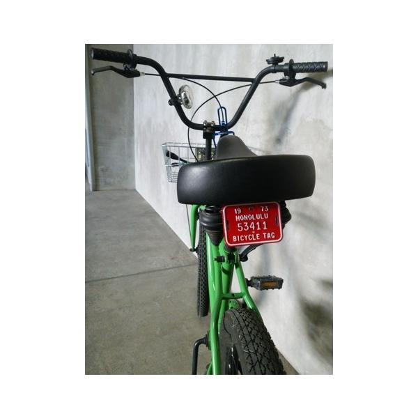 ホノルル ハワイ 自転車 ナンバープレート(赤) 70sデッドストック HAWAII HONOLULU アメリカ雑貨 アメリカン雑貨|texas4619|02