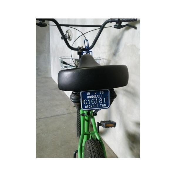 ホノルル ハワイ 自転車 ナンバープレート(青) 70sデッドストック HAWAII HONOLULU アメリカ雑貨 アメリカン雑貨|texas4619|02