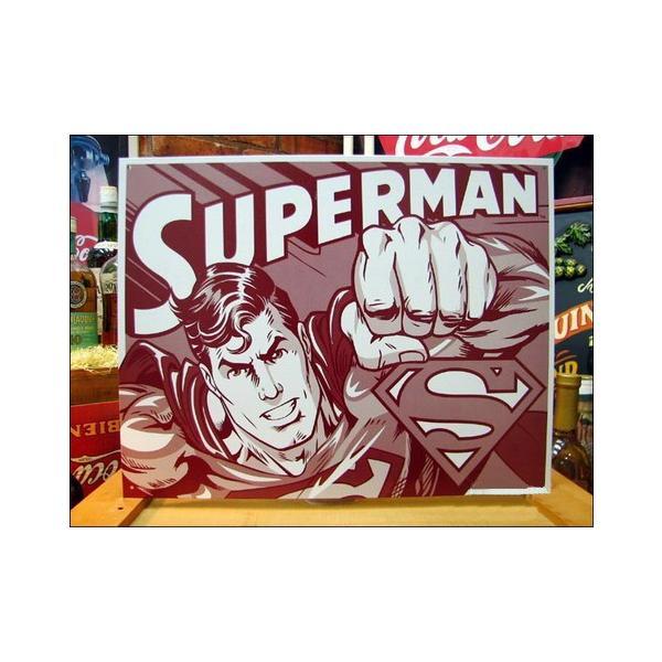 ティンサインプレート(SUPERMAN) スーパーマン 看板 インテリア アメリカ雑貨 アメリカン雑貨|texas4619