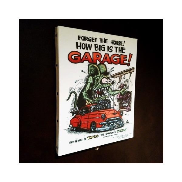 ラットフィンク アートキャンバス(GARAGE)(M SIZE) RAT FINK インテリア アメリカ雑貨 アメリカン雑貨 texas4619