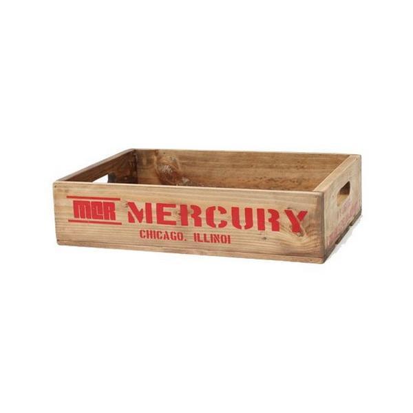 MERCURY リサイクルウッドクレート(レッド) マーキュリー ウッドボックス 木箱 アメリカ雑貨 アメリカン雑貨 texas4619