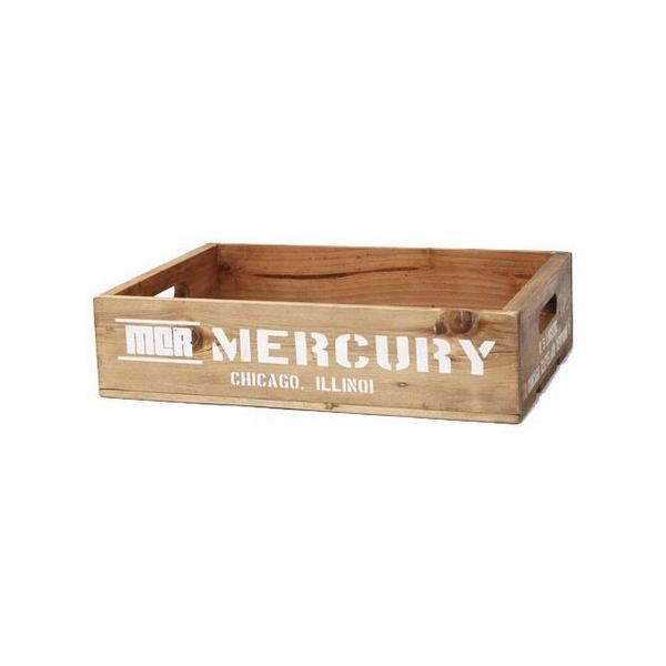 MERCURY リサイクルウッドクレート(ホワイト) マーキュリー ウッドボックス 木箱 アメリカ雑貨 アメリカン雑貨|texas4619