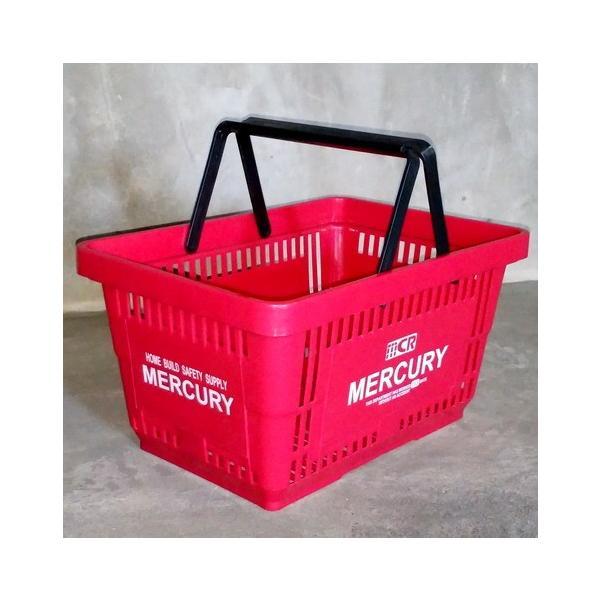 MERCURY マーケットバスケット(レッド) 買い物かご マーキュリー アメリカ雑貨 アメリカン雑貨|texas4619