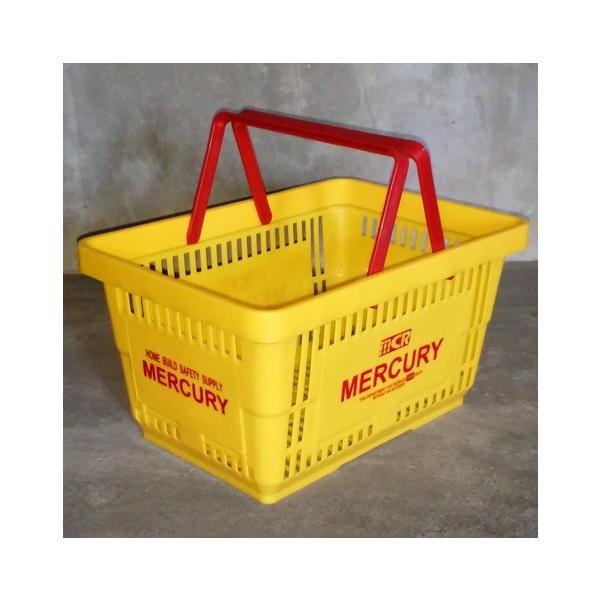 MERCURY マーケットバスケット(イエロー) 買い物かご マーキュリー アメリカ雑貨 アメリカン雑貨