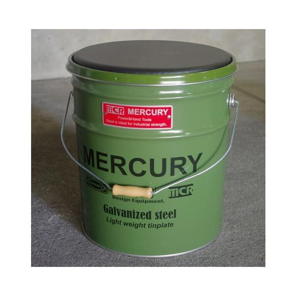 MERCURY オイル缶スツール(カーキ) 椅子 収納 マーキュリー アメリカ雑貨 アメリカン雑貨