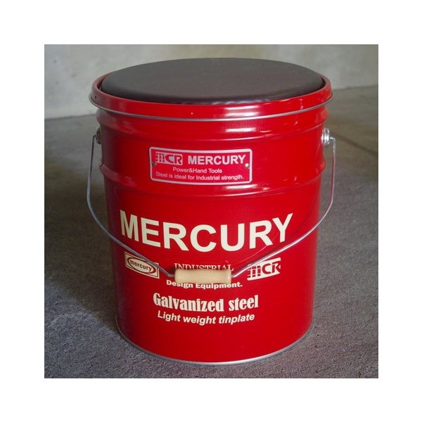MERCURY オイル缶スツール(ブラック) 椅子 収納 マーキュリー アメリカ雑貨 アメリカン雑貨