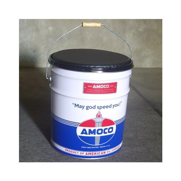 オイル缶スツール AMOCO 椅子 収納 アメリカ雑貨 アメリカン雑貨