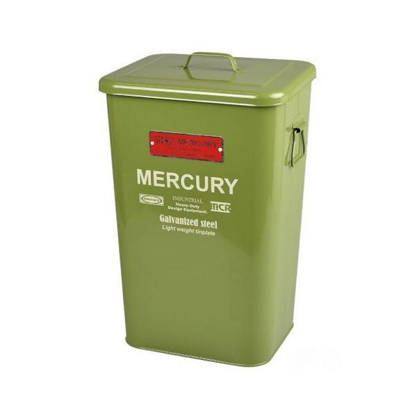 MERCURY スクエアダストビン(グリーン) マーキュリー ゴミ箱 ダストビン アメリカ雑貨 アメリカン雑貨|texas4619