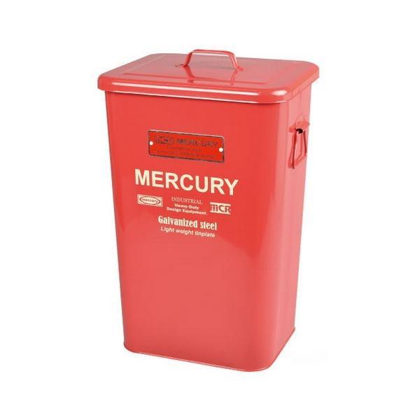 MERCURY スクエアダストビン(レッド) マーキュリー ゴミ箱 ダストビン アメリカ雑貨 アメリカン雑貨|texas4619