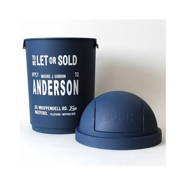 35Lダストボックス(ブルー) The United EMN ゴミ箱 ダストビン アメリカ雑貨 アメリカン雑貨|texas4619|02