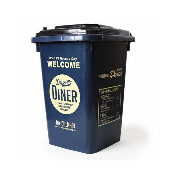 32Lダストボックス(ネイビー) ゴミ箱 インテリア ダストビン アメリカ雑貨 アメリカン雑貨|texas4619|02