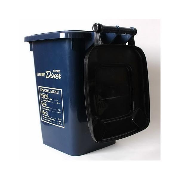 32Lダストボックス(ネイビー) ゴミ箱 インテリア ダストビン アメリカ雑貨 アメリカン雑貨|texas4619|03