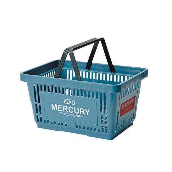 MERCURY マーケットバスケット(ブルー) 買い物かご マーキュリー アメリカ雑貨 アメリカン雑貨|texas4619