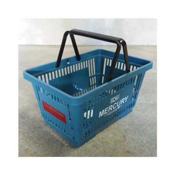 MERCURY マーケットバスケット(ブルー) 買い物かご マーキュリー アメリカ雑貨 アメリカン雑貨|texas4619|02