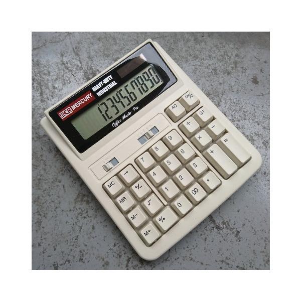 MERCURY ソーラー カリキュレーター(ベージュ) 電卓 計算機 マーキュリー アメリカ雑貨 アメリカン雑貨 texas4619