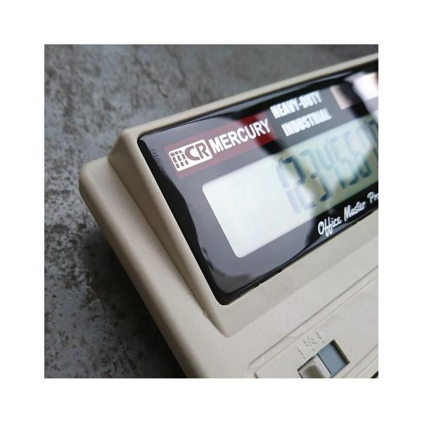 MERCURY ソーラー カリキュレーター(ベージュ) 電卓 計算機 マーキュリー アメリカ雑貨 アメリカン雑貨 texas4619 02