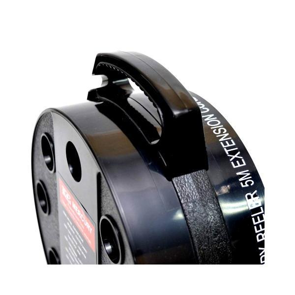 MERCURY 延長コード 5M(ブラック) 電源コードリール リーラー マーキュリー アメリカ雑貨 アメリカン雑貨|texas4619|04