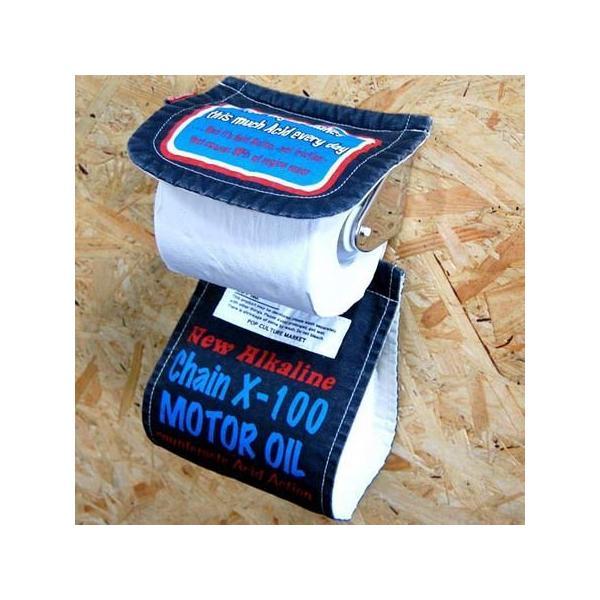 トイレットペーパーホルダーカバー(MOTOR OIL) トイレ用品 インテリア アメリカ雑貨 アメリカン雑貨|texas4619