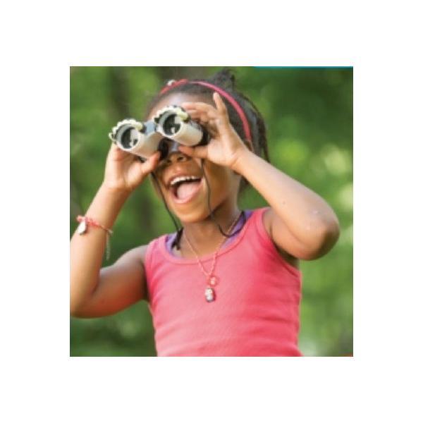 双眼鏡 子供用 ガーリーガール フラワープリント 全長12cm
