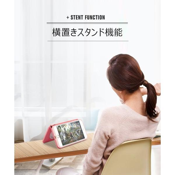 ポイント消化 訳あり スマホケース iPhone 7 8 X ミラー付き ストラップ スタンド 手帳型 KJM|tfashion|05