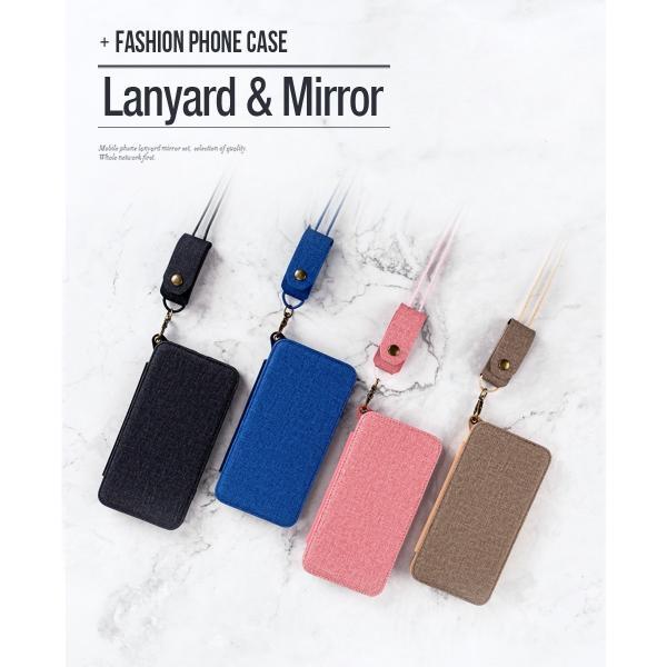 ポイント消化 訳あり スマホケース iPhone 7 8 X ミラー付き ストラップ スタンド 手帳型 KJM|tfashion|06
